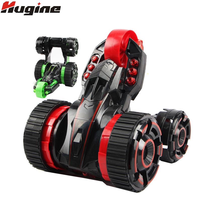 Wireless RC Car 5 Wheels Special Stunt 360 Degree Spin And Rotation Double Side High Speed Racing Car Light Radio Electric Toy