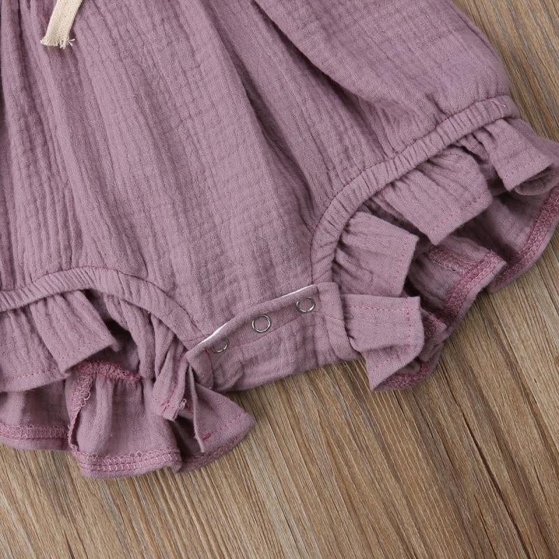 HTB1UMOdaErrK1RkSne1q6ArVVXaU 6 Color Cute Baby Girl Ruffle Solid Color Romper  Jumpsuit Outfits Sunsuit for Newborn Infant Children Clothes Kid Clothing