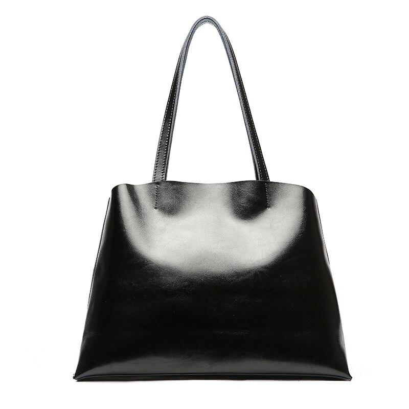 FCTOSSR sacs à main portables femmes mode sacs à bandoulière huile cire cuir grande capacité fourre-tout 2019 Lady all-match sacs à main vierges
