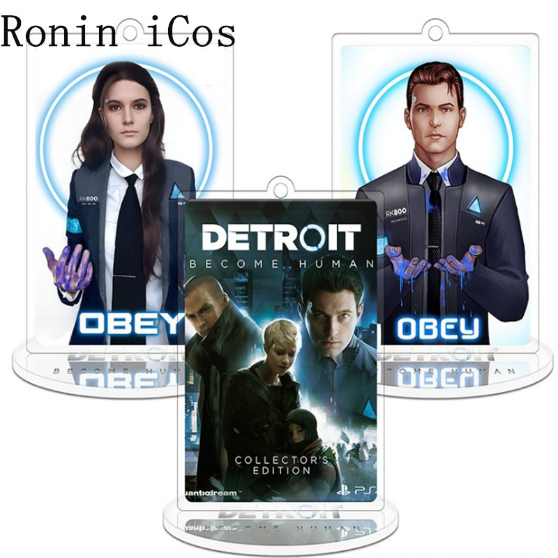 Detroit: Become Human Connor Model Cosplay Costumes Acrylic Keyring Keychain Pendant Key chain