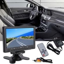 2016 Nueva 7 Pulgadas 800×480 TFT Color LCD AV Vehículo Retrovisor del coche Monitor HDMI VGA AV Nueva Caída Libre de La Venta Caliente!