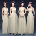 2016 vestido de festa de Casamento Eventos Nupcial Longo Da Dama de honra Vestidos de Chiffon Chiffon Múltiplas Colorr Maxi Vestidos de Festa de Casamento