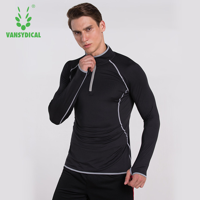 Men Compression Shirt Long Sleeve Quick Dry Breathable
