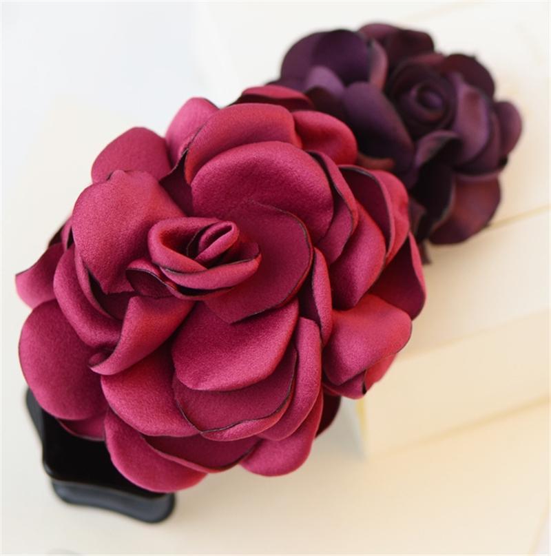 Tela de Flores Artificiales de Pelo Peines Accesorios Para