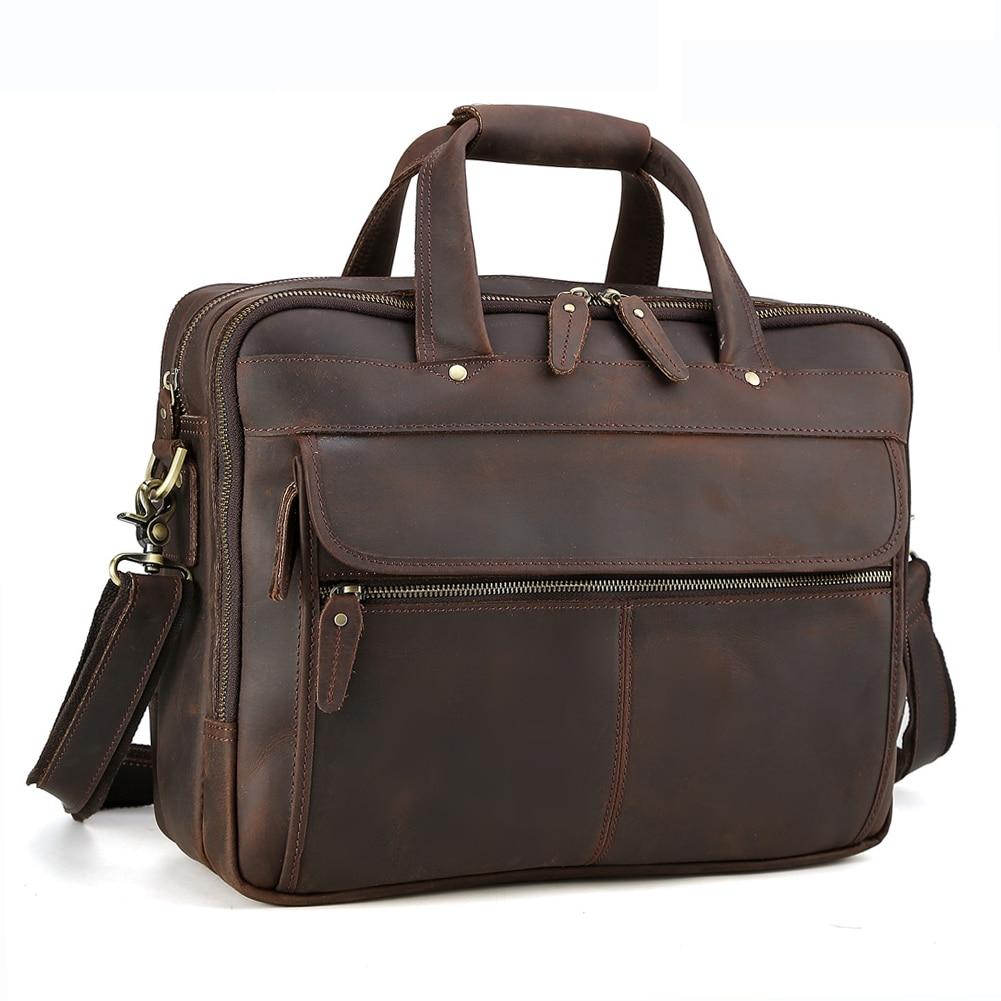 Tiding Men Leather Travel Briefcases 15.6 Laptop on Trolley Case Messenger Bag Tote Handbag Shoulder Bag with Back Strap 1305Tiding Men Leather Travel Briefcases 15.6 Laptop on Trolley Case Messenger Bag Tote Handbag Shoulder Bag with Back Strap 1305