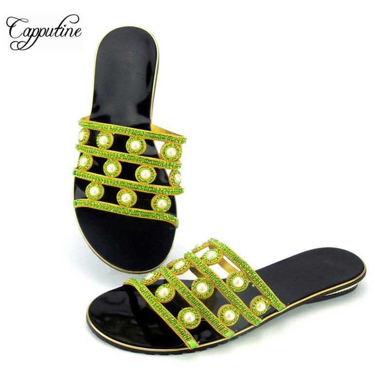 Talons Preal Haute Strass Qualité Abs1117 Capputine orange Pantoufles vert Chaussures or Bleu Partie Avec Mode argent Femmes Pour Faible Africaine Pwzqw0d