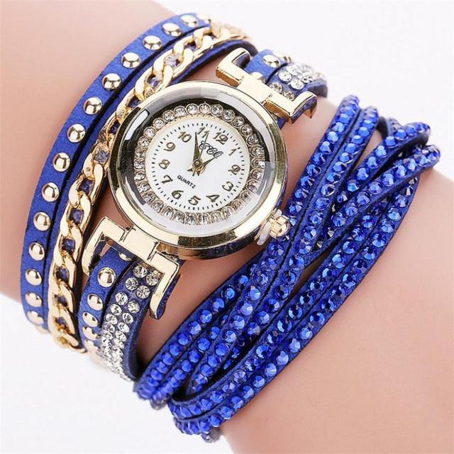 Faux Chronograph Plated Classic Quartz Sport Watch Women Fashion Casual Analog Q
