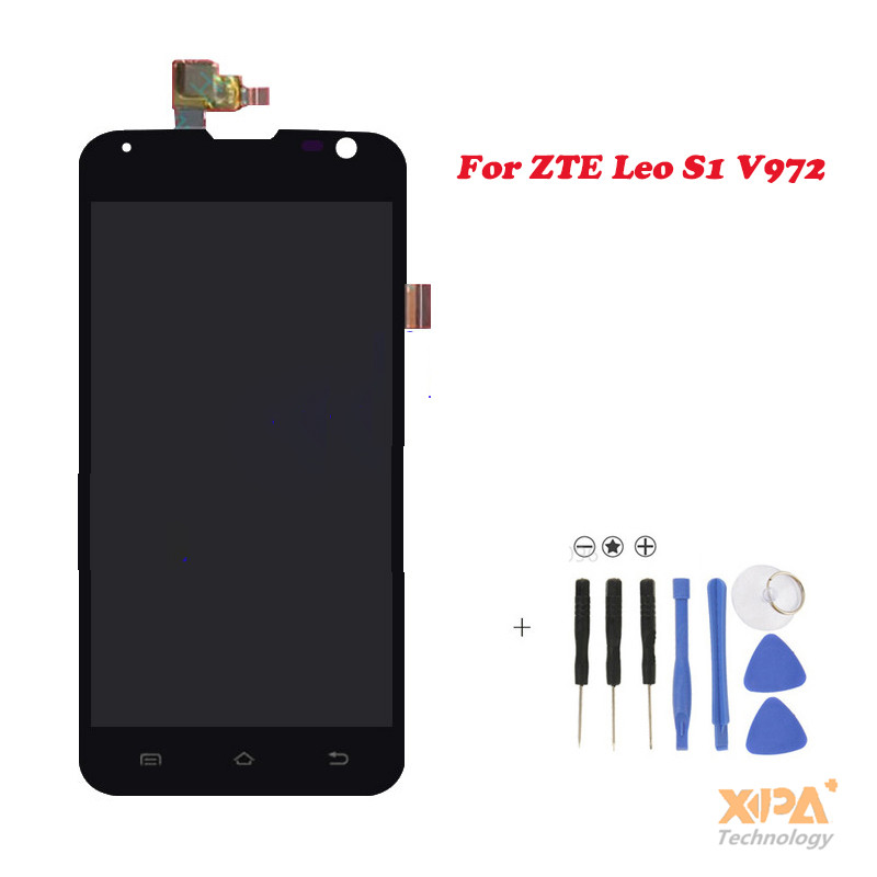 Подробнее о New Full LCD DIsplay+Touch Screen Digitizer Assembly Replacement For ZTE Leo S1 V972M V972 (Black) Free shipping, new for zte b880 lcd display with touch screen digitizer assembly black free shipping
