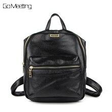 Go meetting Женская Рюкзаки из искусственной кожи женский рюкзак женщины школьная сумка для девочек большой Ёмкость плеча Путешествия Mochila