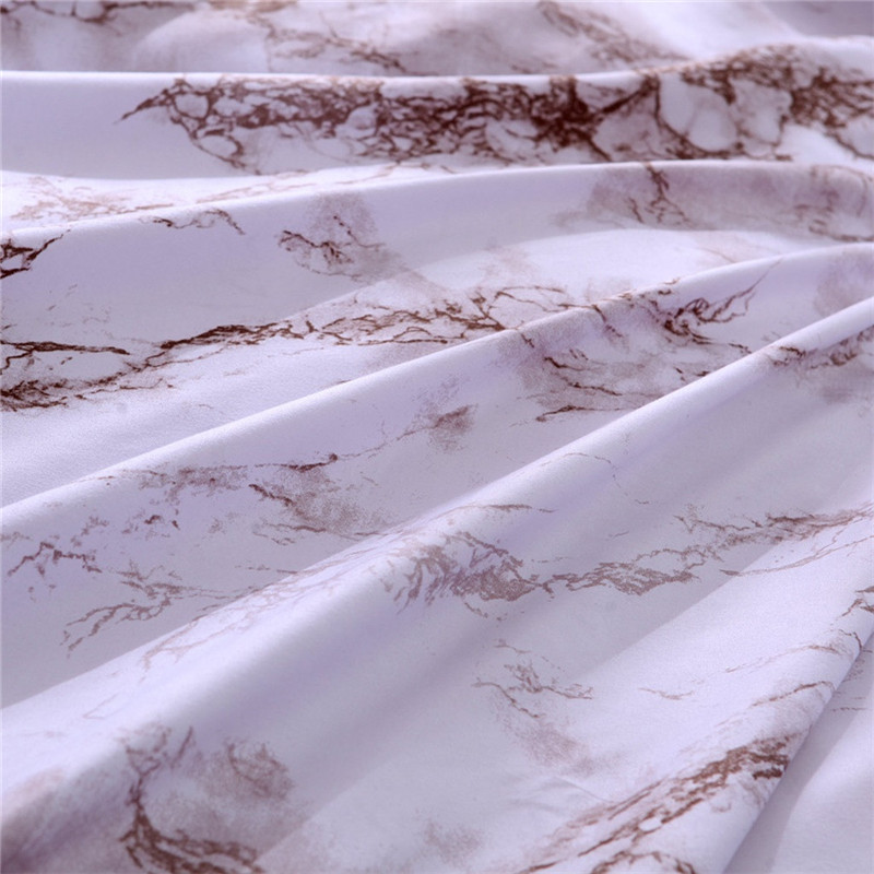 Image 4 - Simple Marble Bedding Duvet Cover Set Quilt Cover Twin King Size With Pillow Case comforter durable 3D Design luxury bed cover-in Bedding Sets from Home & Garden