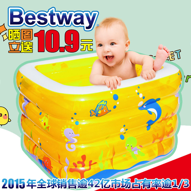Bestway infant swimming pool/Baby Bath Tub/three-ring thickening heat preservation swimming pool for babies купить