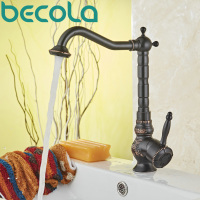 Becola New Design Oil Rubbed Black Swivel Bathroom Basin Faucet Antique Brass Single Handle Sink Mixer