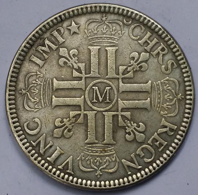 France-Kingdom 1690 (M) 1 Ecu – Louis XIV  Silver Coin