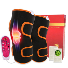 цены Electric Heating Knee Pain Relief Pads Knee Vibration Stimulator Massager Magnetic Therapy Rheumatism Health Care Pads