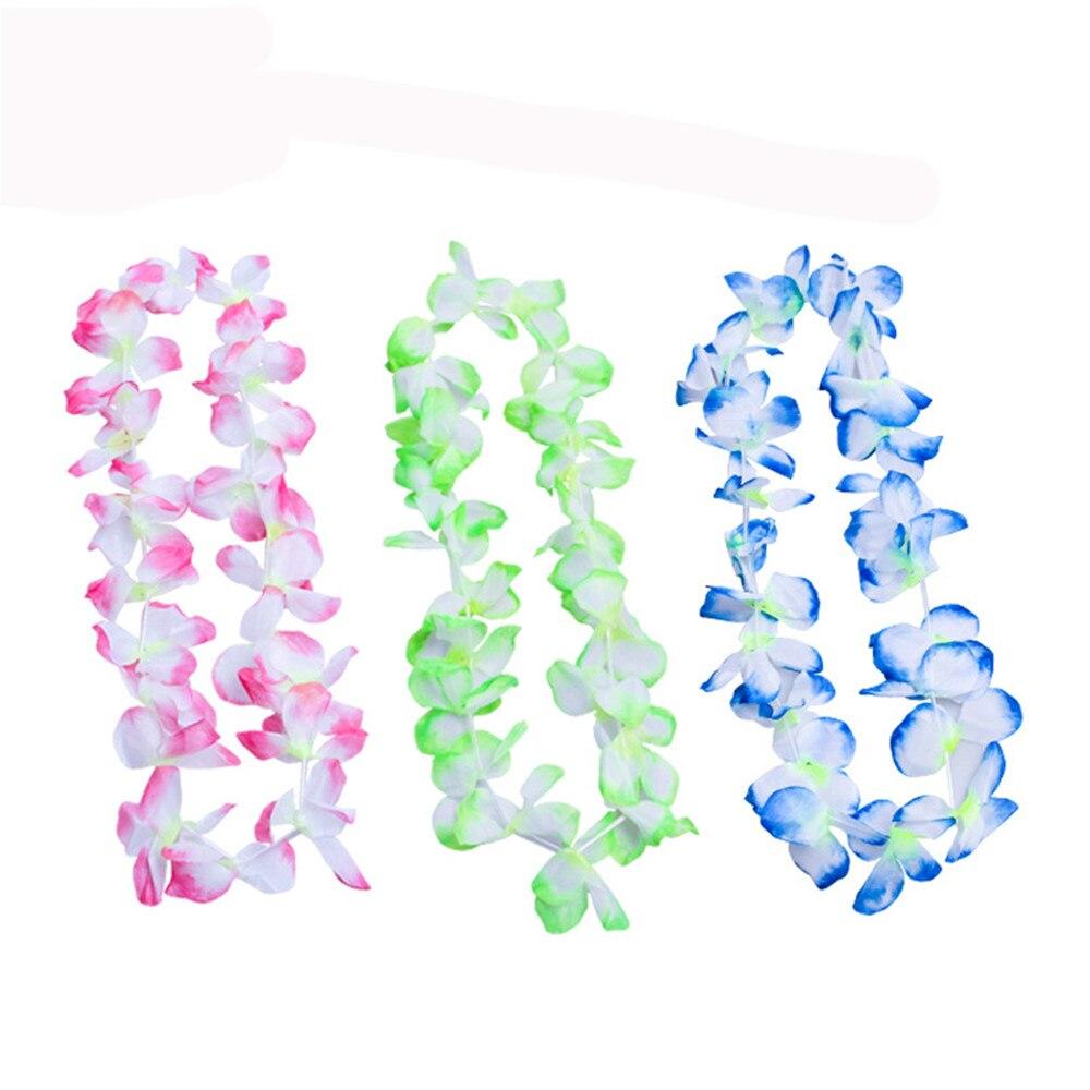 300 Pcs New Arrive Party Supplies Silk Hawaiian Flower Lei Garland