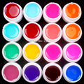 Hot DIY 16 PCS Mix Colors Glass UV Builder Gel Acrylic Nail Art Set for Nail Art Tip New