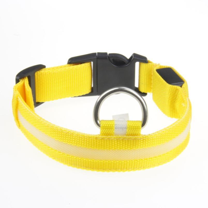 Горячий продукт регулируемый Детская безопасность домашние животные собака мигающий светодиод ночник нейлон воротник зарядка через <font><b>USB</b></font> <font><b>Led</b></font> &#8230;