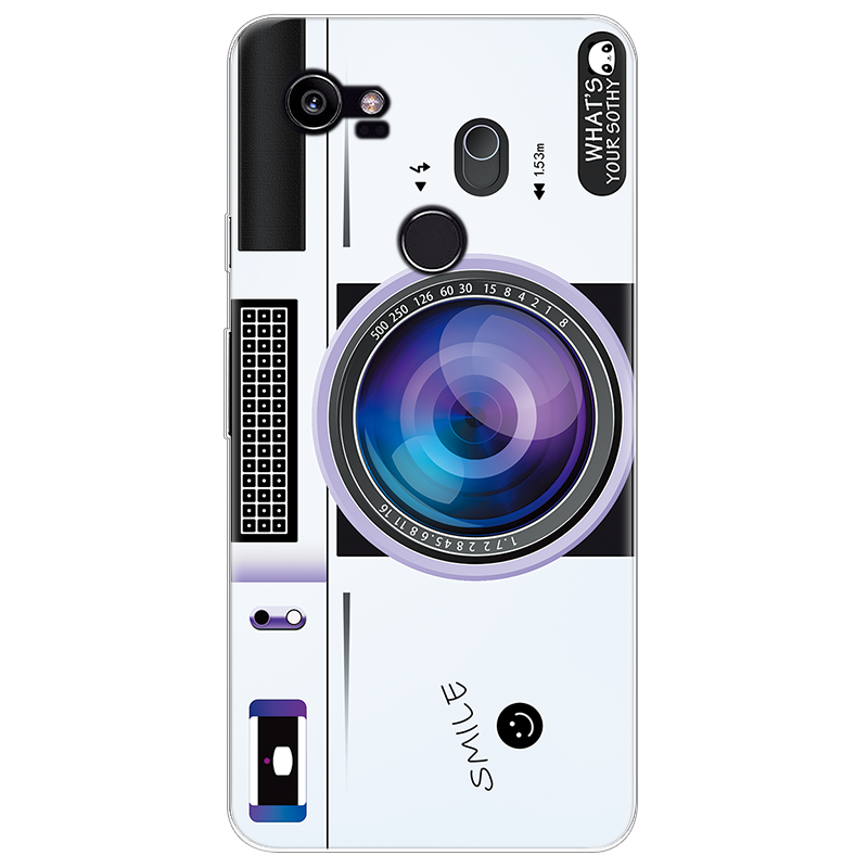 Case For Coque Google Pixel 2 XL Case Soft TPU Geometry Splice Pattern Camera Luxury Transparent Cover Funda Protective