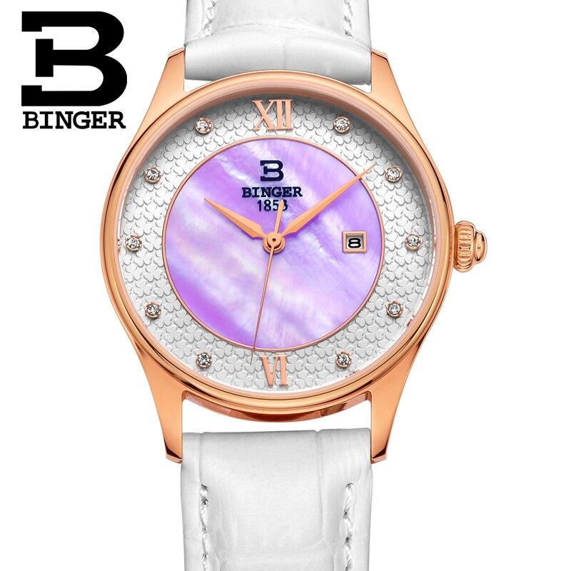 Fleurissement fleurs montre pour femmes élégant bracelet en cuir blanc montre-bracelet Quartz cristaux robe montre coque naturelle analogique Reloj