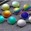 2016 Más Reciente Mujer Hombre Ronda Negro gafas de Sol Retro Belleza de La Vendimia Círculo Mujeres Hombres Gafas de Sol de Marca Original