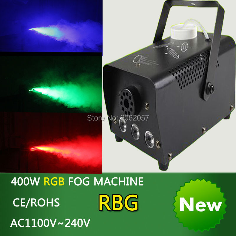 2pcs/lot mini 400W RGB Wireless remote control fog machine pump dj disco smoke machine wedding party stage Lampblack machine 4x lot dropshiping 400w mini smoke machine fog machine special effects for stage light party events 90 240v