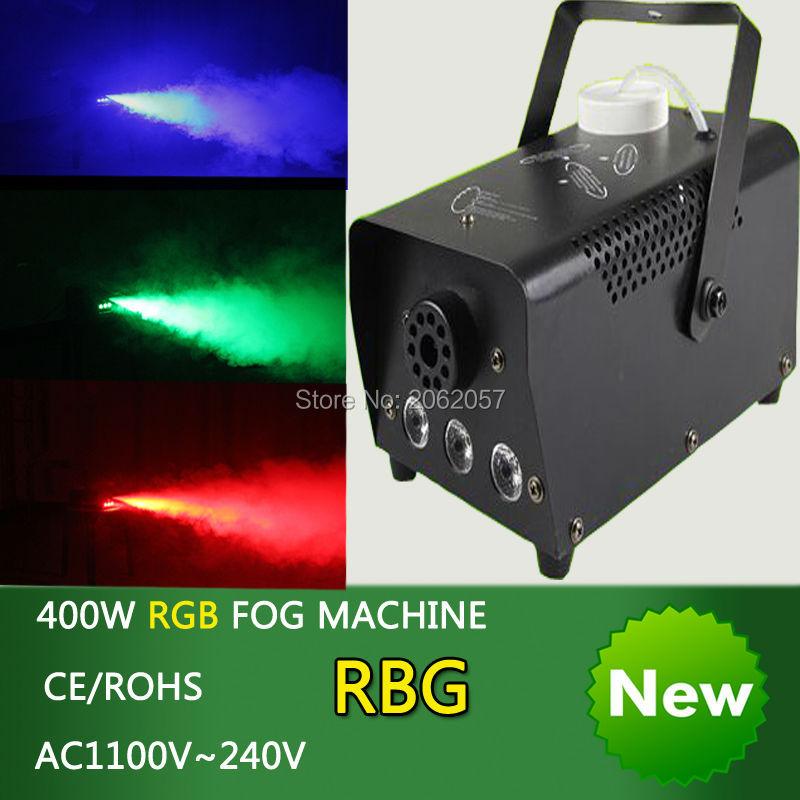 2pcs/lot mini 400W RGB Wireless remote control fog machine pump dj disco smoke machine wedding party stage Lampblack machine