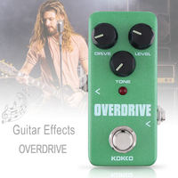 KOKKO Mini Green Electric Guitar Bass Effect Pedal OVERDRIVE Delivers Warm Natural Overdrive Sound True Bypass Full Metal Shell