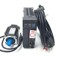 CNC Delta 200W AC Servo Motor Drive kit System 220V 0.64NM 1.55A 60mm with 3M Cable ECMA C20602RS+ASD B2 0221 B