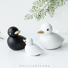 Modern minimalist duck desktop decorations girls bedroom creative furnishings childrens room Nordic small ornaments