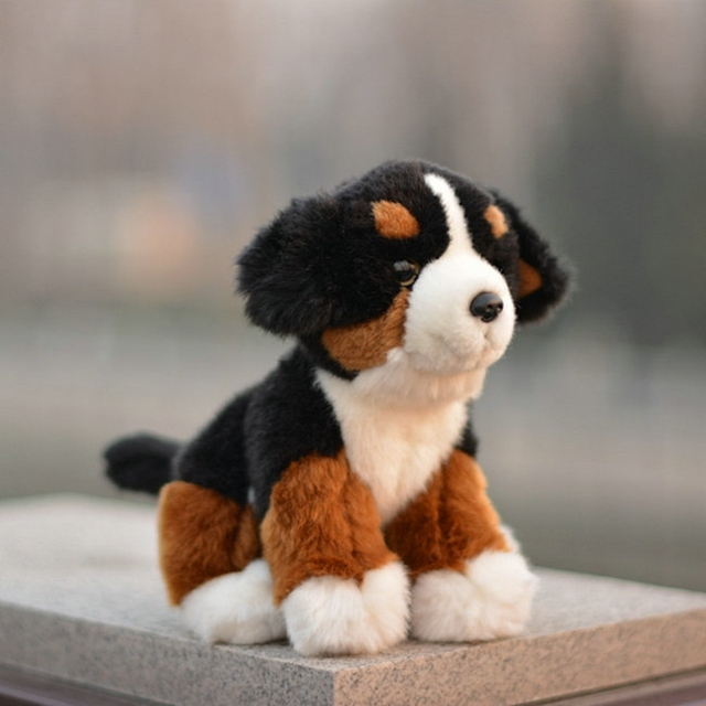 Cute Plush Animals Toy Bernese Mountain Doll Kids Toys Birthday Gifts Dogs Dolls