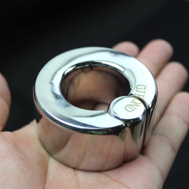 למעלה נירוסטה פין שעבוד טבעת עבור לשמור פין חזק וקשה, איפוק שק אשכים תליון אשך זין טבעת, צעצועי מין, B50