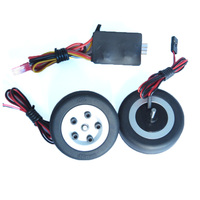 JP electric brake with 2 wheels and controller, 45mm brake wheel set for RC fixed wing aircraft model landing gear
