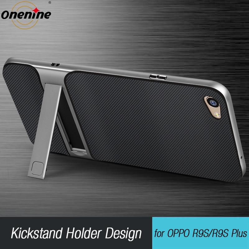 Zcela nové pouzdro na mobilní telefon pro 3D stojan pro OPPO R9S 5,5 Hybridní kryt TPU + PC plně ochranný křemík pro OPPO R9S Plus 6.0