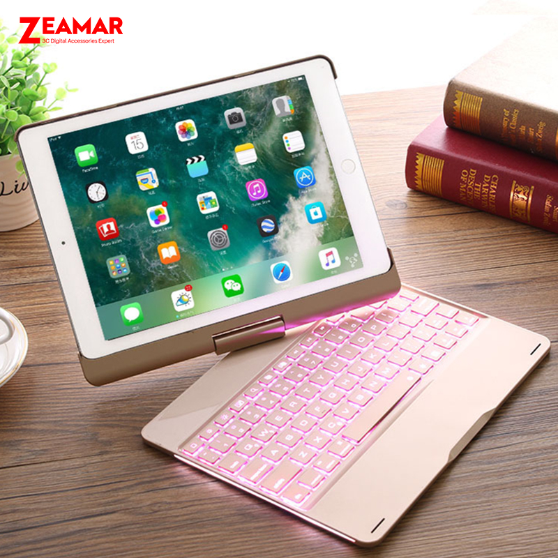 7 Colors Backlit Keyboard Case For iPad Pro 9 7 inch 2016 Smart Wireless Bluetooth 4