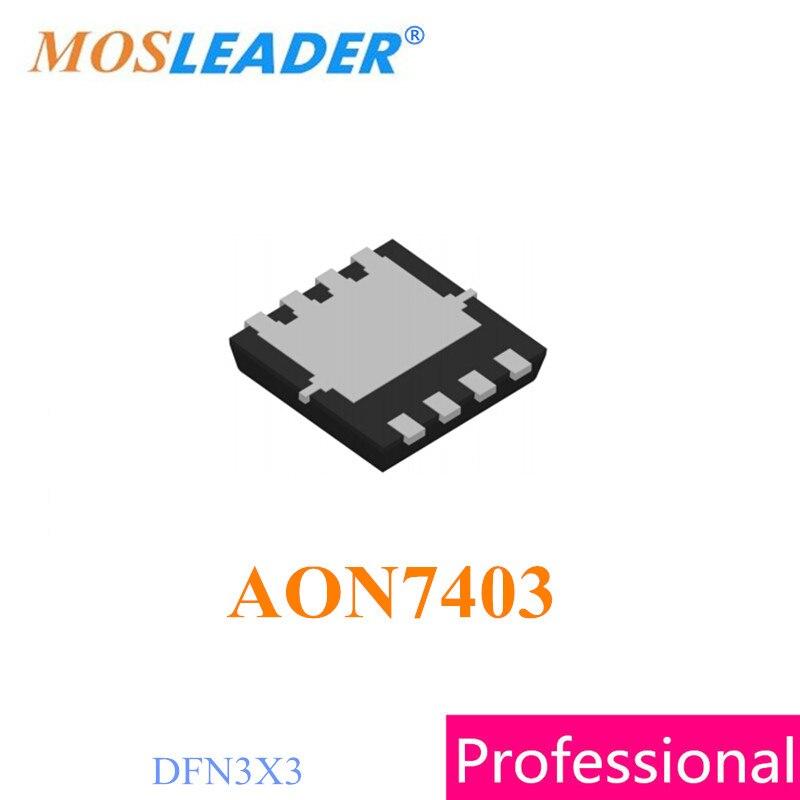 Mosleader AON7403 DFN3X3 300PCS N-Channel 30V High quality цена