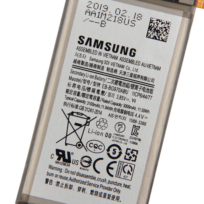 SAMSUNG Original Replacement Battery EB BG970ABU For Samsung Galaxy S10E S10 E SM G9700 G9700 3100mAh Authentic Phone Battery in Mobile Phone Batteries from Cellphones Telecommunications