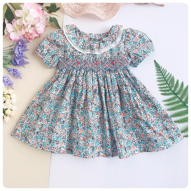 b06c76bdc2ad0 US $12.5 |Toddler Girl Princess Wedding Dress 2019 Girl Smocked Dress  Newborn Infant Kids Baby Girls Dress Buttons With Bow Vestido Infant-in  Dresses ...