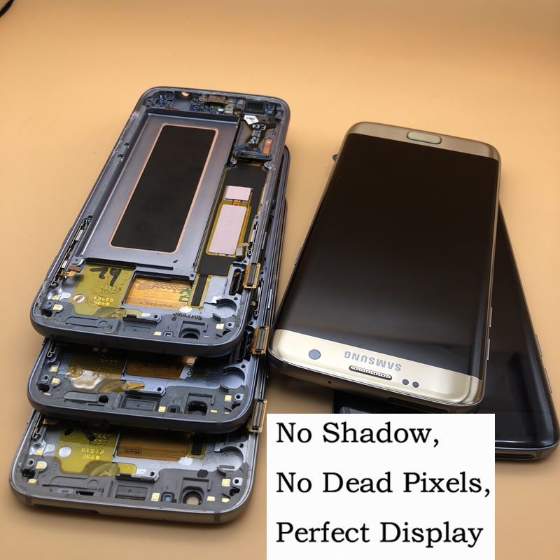 NEW ORIGINAL 5.5'' Super AMOLED LCDs For Samsung Galaxy S7 edge LCD WITH FRAME G935 G935F G935FD LCD Display Screen Digitizer