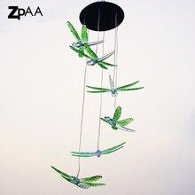 ZPAA Solar Power Dragonfly LED Solar Light Yard Led Outdoor Light Garden Path Decoration Wind Chime Lamp