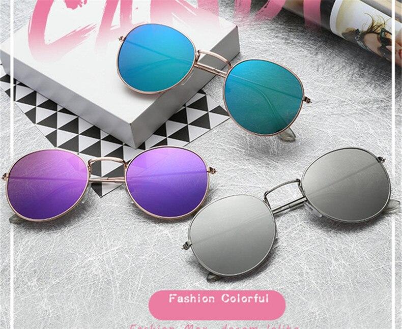 Mirror Round Sunglasses Men Women 11_