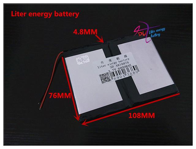 3.7 V 6000 mAH 4810876 (bateria de iões de lítio polímero) bateria Li-ion para tablet pc telefone celular banco de potência falante