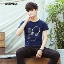 KUYOMENS  Plus Size S-5XL  Homme Summer Short Sleeve Men T Shirts