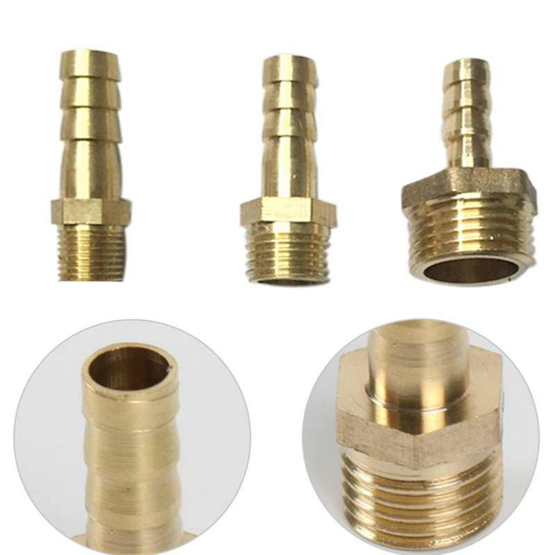 "6mm 8mm 10mm Brass Pipe Fitting Hose Barb Tail 1/8"" 1/4"" 1/2"" BSP Male Connector Joint Copper Coupler Adapter Gas Hose Joint"