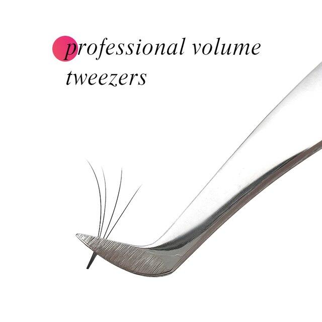AS09 tweezers for volume eyelash extension 3D 5D 6D stainless steel tweezers eyelash extension tool individual eyelash tweezers 2