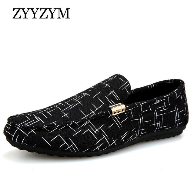 ZYYZYM/мужские лоферы, мужская обувь, повседневная обувь, 2019 весна-лето, легкая парусиновая Молодежная обувь, Мужская дышащая модная обувь на плоской подошве