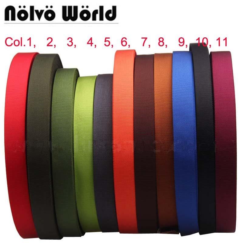 10 Yards 11 Colors 25mm 1 Inch Wide Nylon Ribbon For DIY Hand Bag Strap,backpack Bags Strap,dog Leash Belt