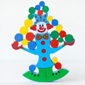 Free delivery  factory price Model Building Kits clown balance beam ,wooden clown balance beam toy, kids blocks clown toy
