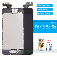 Full LCD For IPhone 5 LCD Display For Iphone5s 5C Screen Touch Digitizer Assembly Front Camera