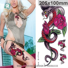 Body Art Waterproof Temporary Tattoo Sticker For Women Sexy Personality 3d Rose Bracelet Large Arm Leg Tatoo QC2625