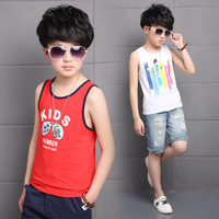 2017 boy vest summer new letter print striped casual sleeveless t-shirt